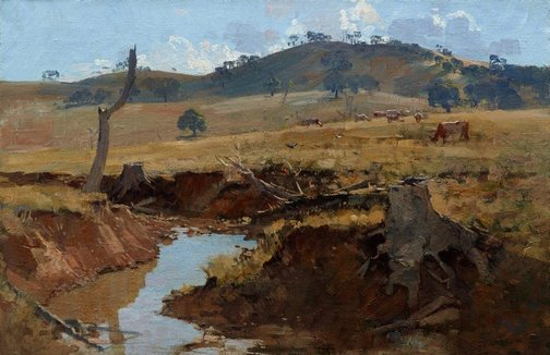 An image of The creek by Arthur Streeton