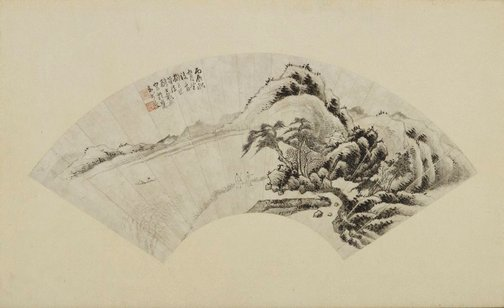 An image of Landscape after the brush method of Juran by Dai Xi
