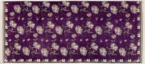 An image of Batik sarong with design of anemones by Eliza van Zuylen