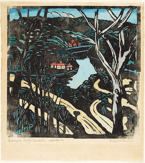 An image of The winding road to Berowra waters by Margaret Preston