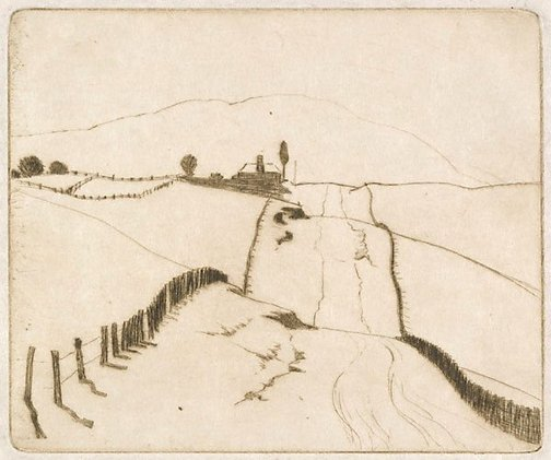 An image of To the hills by Elioth Gruner
