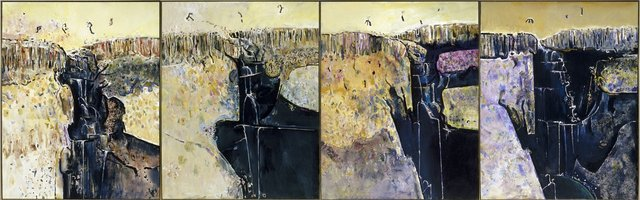 An image of Waterfall polyptych