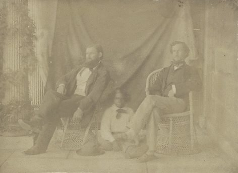 An image of Mr William Landsborough, Tiger and J.L. by Louisa Elizabeth How