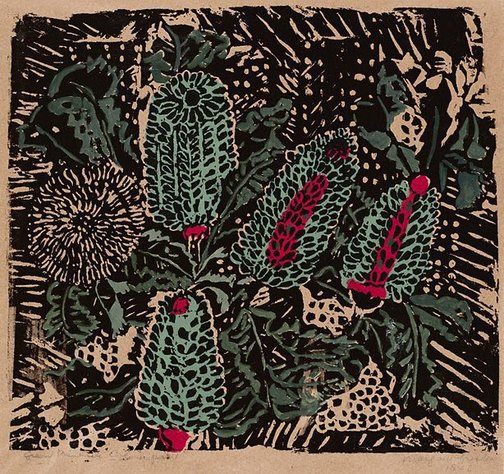 An image of Green banksia by Margaret Preston
