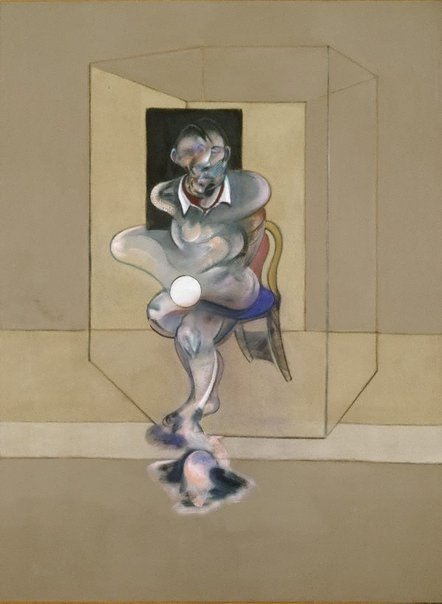 An image of Study for self-portrait by Francis Bacon