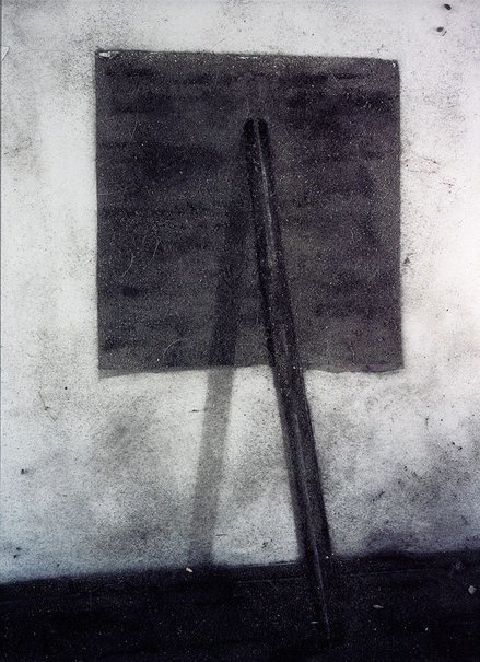 An image of Richard Serra, prop, 1968... (picture of dust) by Vik Muñiz