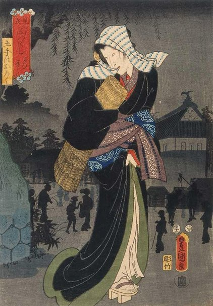 An image of Variety of darkness: evening darkness by Utagawa KUNISADA /TOYOKUNI III