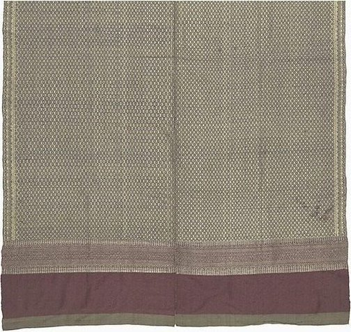 An image of 'Phaa hom' (blanket) with brocade patterning by