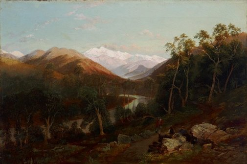 An image of The Ovens Valley, Victoria by Nicholas Chevalier