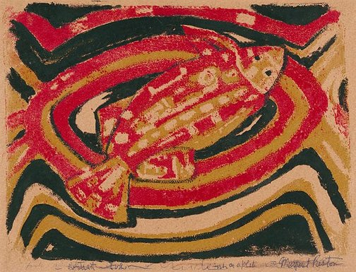 An image of Fish by Margaret Preston