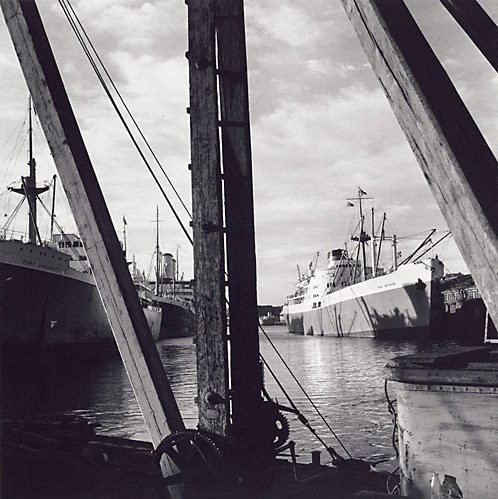 An image of Pyrmont docks, Sydney by David Moore