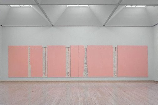 An image of Jasperware painting (pink) by Tony Clark