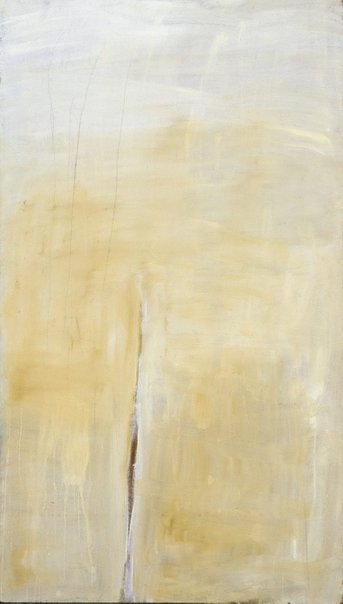An image of (Pale yellow with charcoal lines) by Tony Tuckson