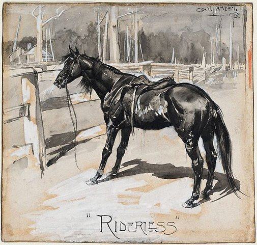 An image of Riderless by George W Lambert