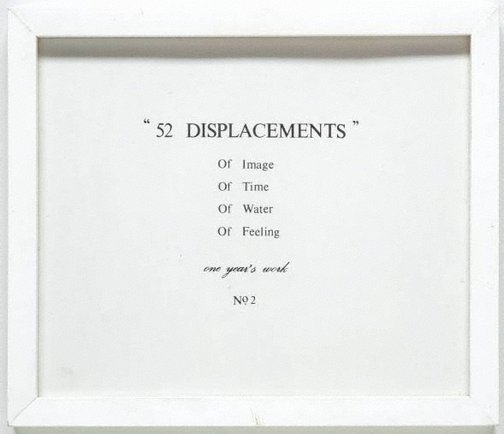 An image of 52 displacements (no. 2) by Imants Tillers