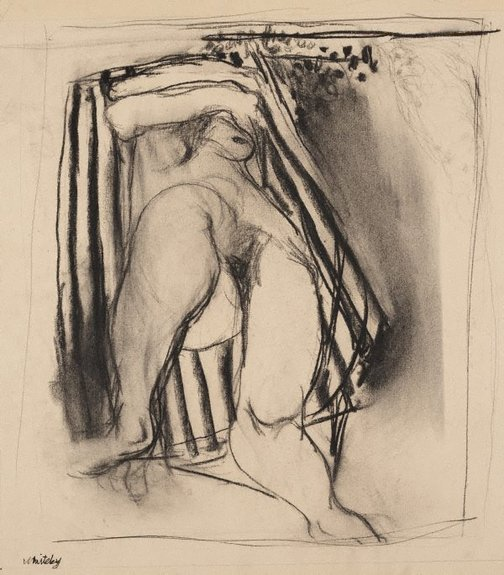An image of (Female nude) by Brett Whiteley