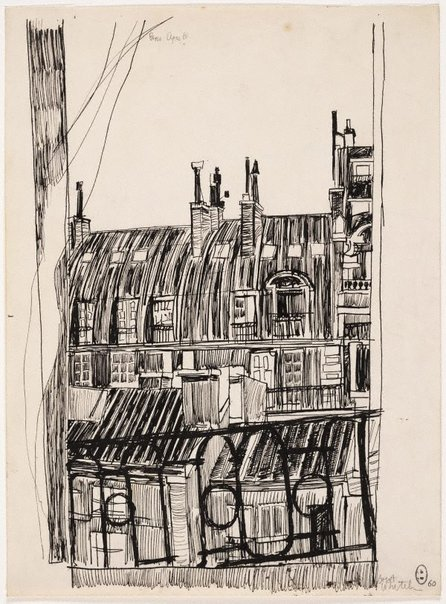 An image of (Balcony view, Paris) by Brett Whiteley