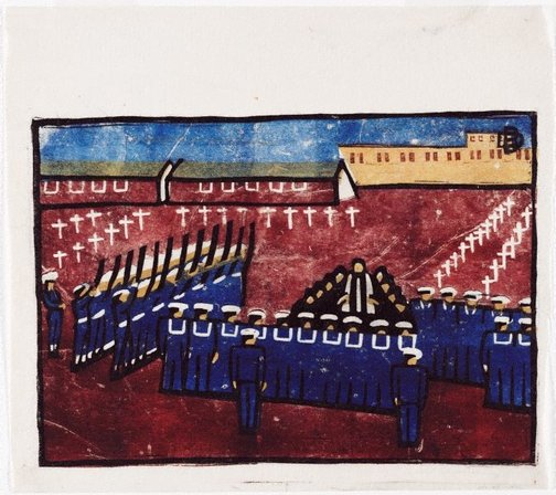 An image of Naval funeral by Dorrit Black