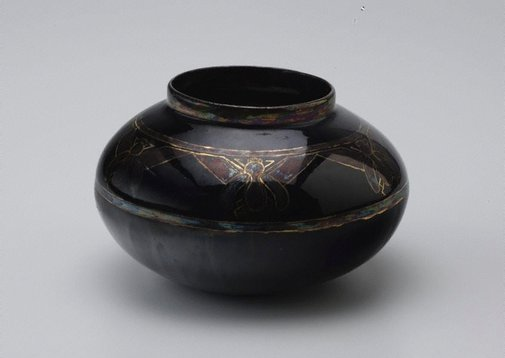 An image of Vase with cicada design by Harry Lindeman