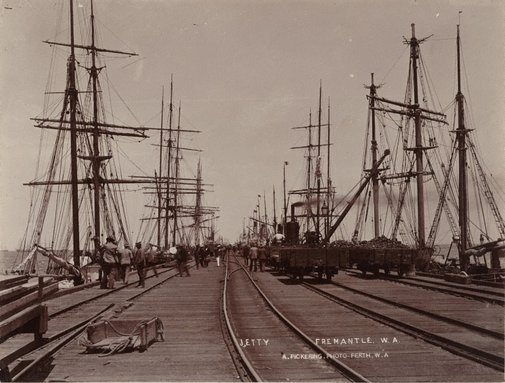 An image of Long Jetty, Fremantle, W.A. by Alfred Pickering