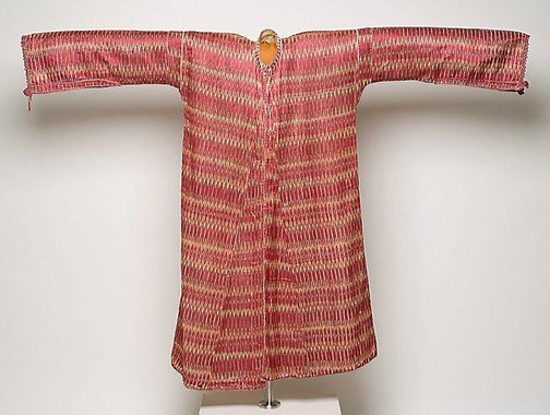 An image of Man's silk ikat coat by