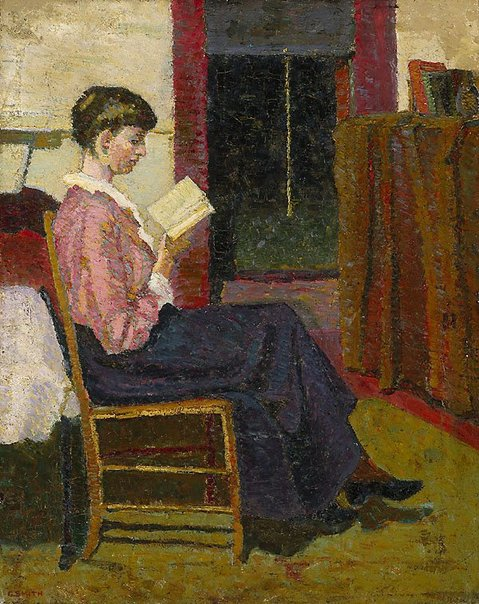 An image of The reader by Grace Cossington Smith