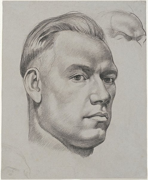 An image of Portrait of a young man by Nora Heysen