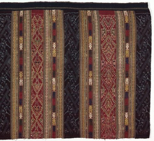 An image of Ceremonial skirt 'phaa sin' with naga ('nak') motif by