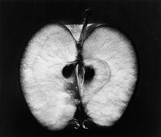 An image of Half an apple