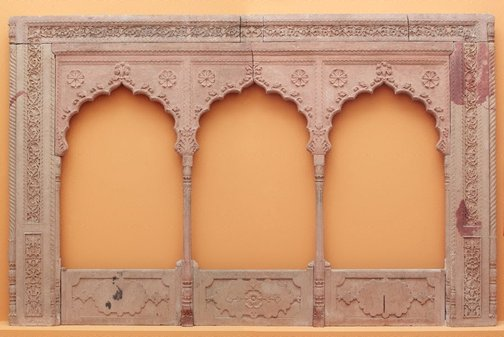An image of A three arch balcony panel by