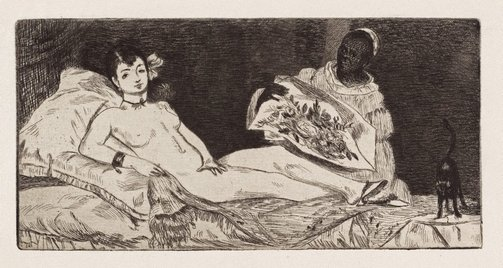 An image of Olympia (published plate) by Edouard Manet