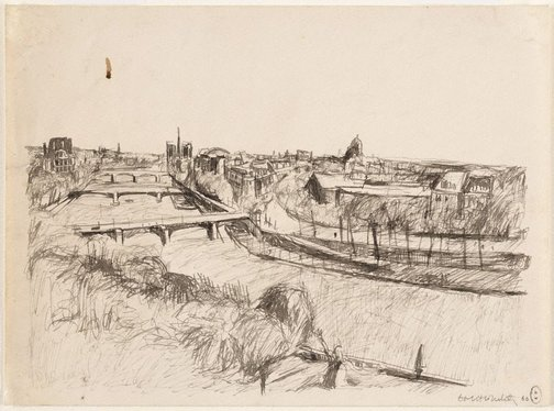 An image of (Seine view, Paris) by Brett Whiteley