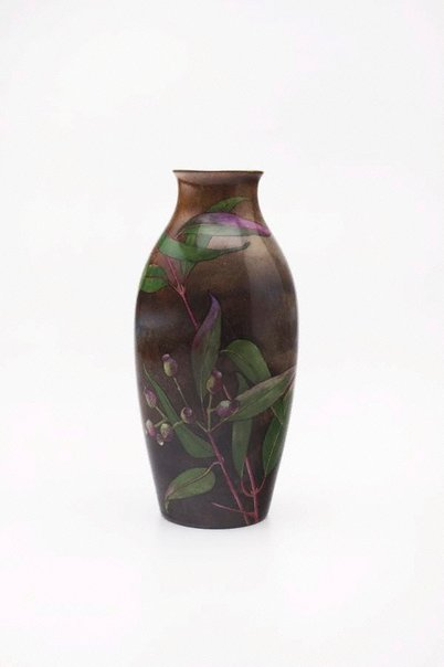 An image of Vase with gumnut and leaf design by Ethel Atkinson