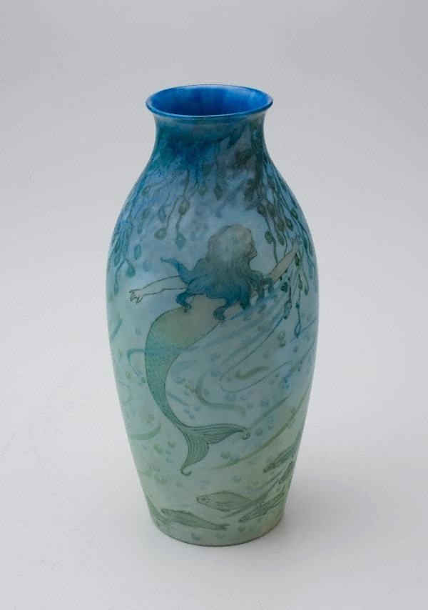 An image of Vase with mermaid design