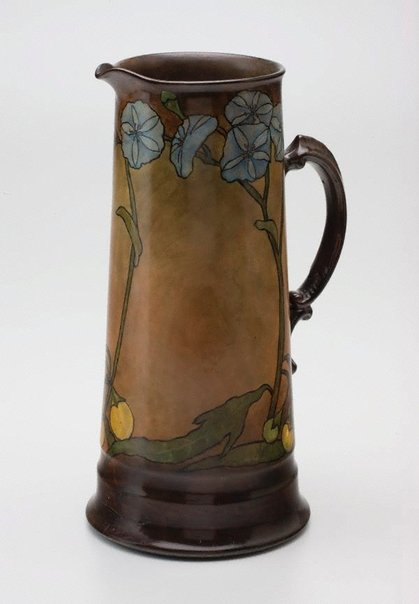 An image of Jug with solanum design by Ada Ione Newman