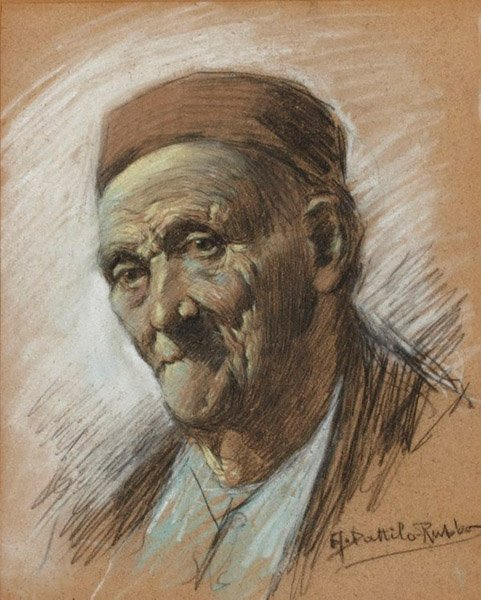 An image of An Old Colonist by Antonio Dattilo-Rubbo