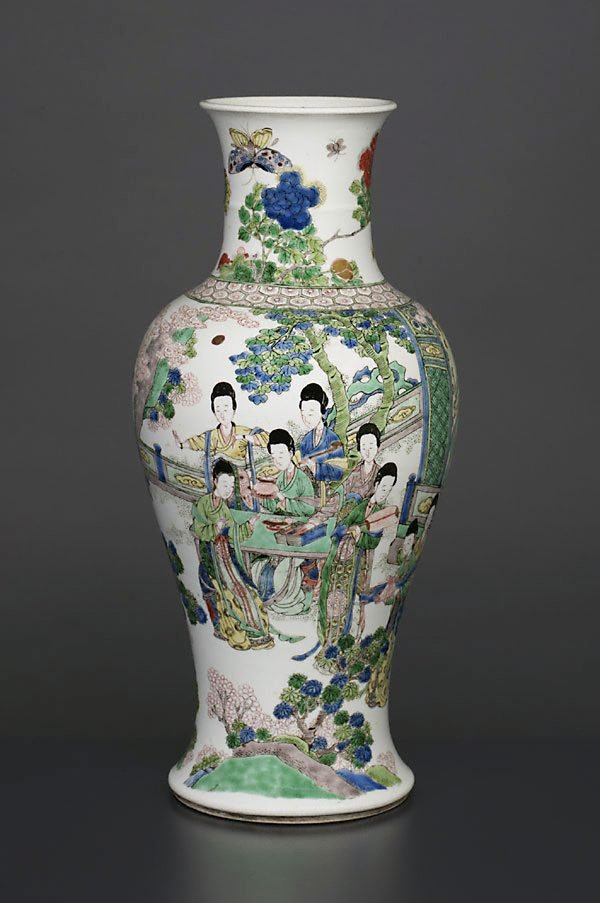 An image of Vase with ladies in landscape design