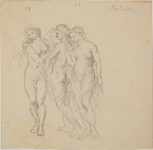 An image of Copy after Rubens' 'The three graces' by James Gleeson