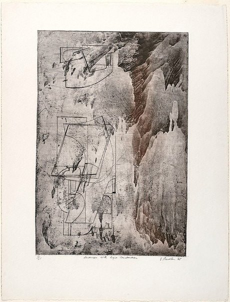 An image of Landscape with light construction by Earle Backen