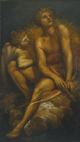 An image of Artemis and Hyperion by George Frederic Watts