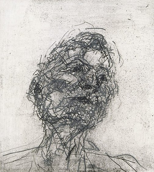 An image of Lucian Freud by Frank Auerbach