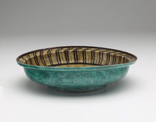 An image of Dish with design of garden plants by Hizen ware