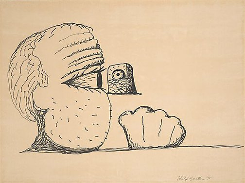 An image of Fist by Philip Guston