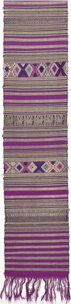 An image of Ceremonial cloth with banded geometric designs by