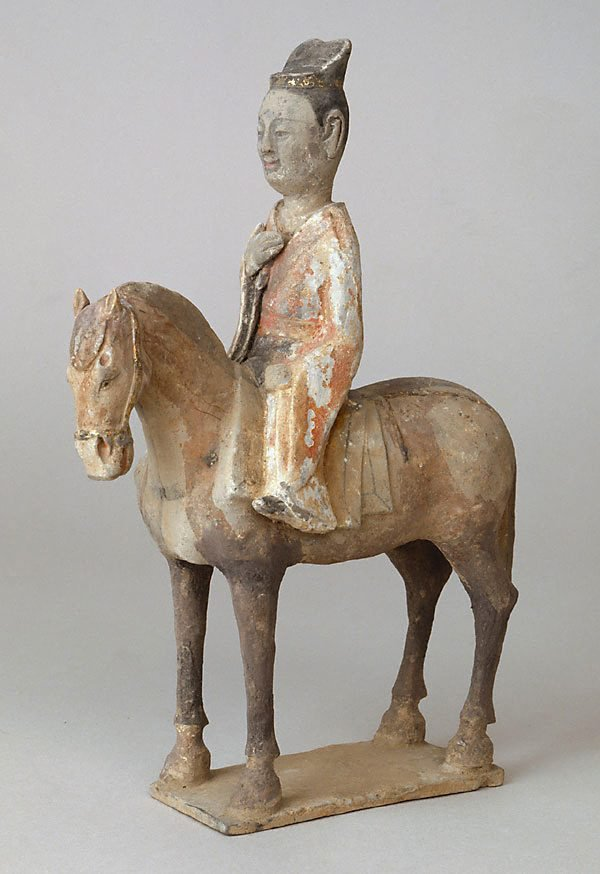 An image of Model of a horse and rider