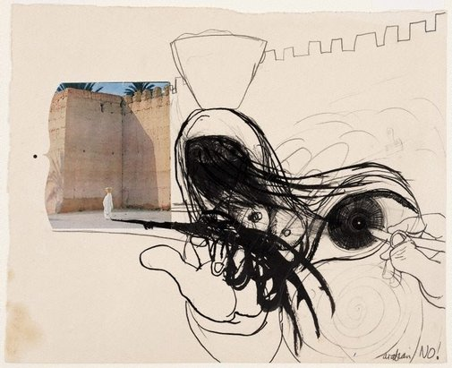 An image of (Arab figures) by Brett Whiteley