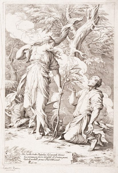An image of Ceres and Phytalus by Johann Joachim von Sandrart, after Salvator Rosa
