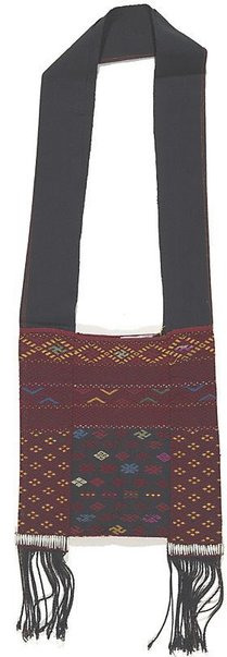 An image of Small bag with swastika motifs by
