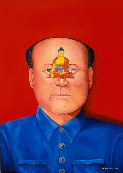 An image of Chairman Mao by Karma Phuntsok