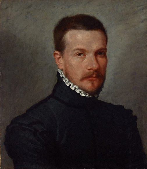 An image of Portrait of a young man by Giovanni Battista Moroni